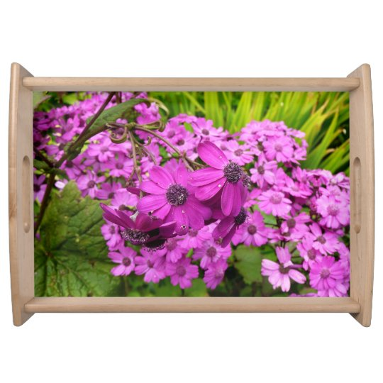 Purple Flowers from San Francisco Serving Tray