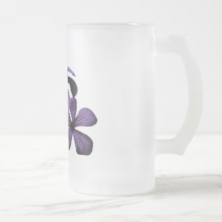 Purple Flowers Frosted Mug