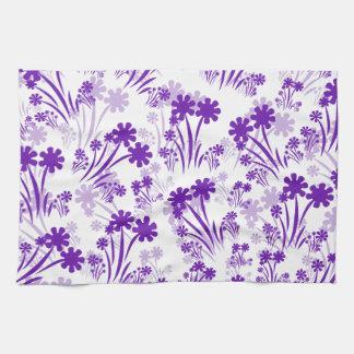 Purple Flowers Hand Towels