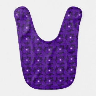 Purple Flowers in 3D , Artdeco Bib