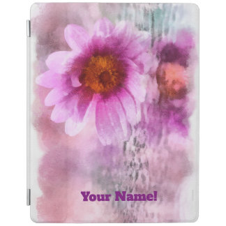 Purple flowers iPad cover