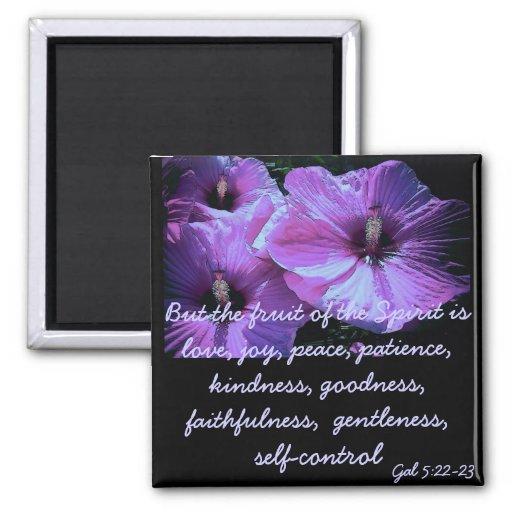 Purple Flowers Magnet
