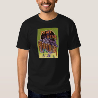 Purple Flowers Mother's Day Card T Shirt