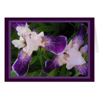 Purple Flowers NoteCards Card