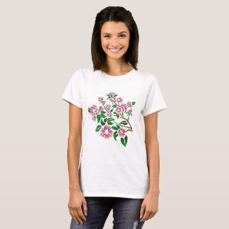 Purple flowers on a tree branch, original artwork T-Shirt