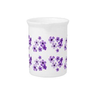 Purple Flowers Pattern Pitcher