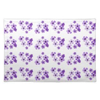 Purple Flowers Pattern Placemat