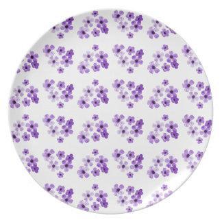 Purple Flowers Pattern Plate