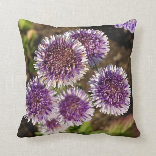Purple Flowers Photo Throw Cushion