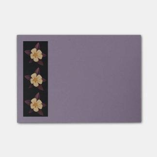 Purple Flowers Post-it Notes