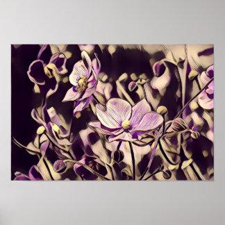 Purple Flowers Print/Poster Poster