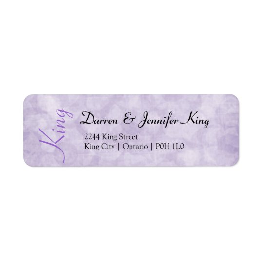 Purple Flowers Return Address Label - Customize