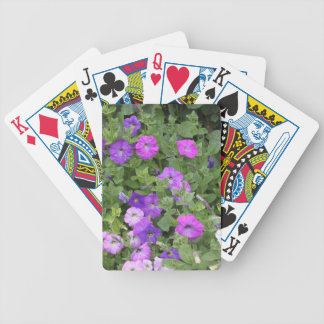 Purple Flowers Spring Garden Theme Petunia Floral Bicycle Playing Cards