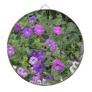 Purple Flowers Spring Garden Theme Petunia Floral Dartboard