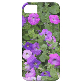 Purple Flowers Spring Garden Theme Petunia Floral iPhone 5 Cover