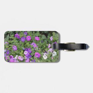 Purple Flowers Spring Garden Theme Petunia Floral Luggage Tag