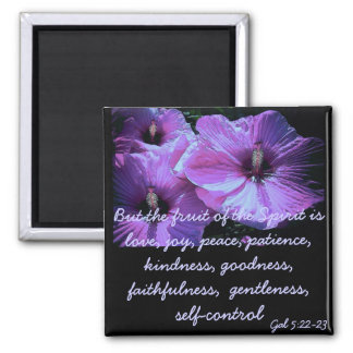 Purple Flowers Square Magnet