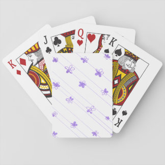 Purple Flowers standard playing cards