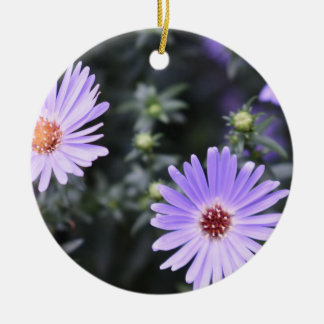 Purple Flowers Summer Nature Photography Floral Ceramic Ornament