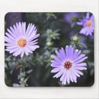 Purple Flowers Summer Nature Photography Floral Mouse Pad