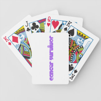 Purple Flowers Survivor Bicycle Playing Cards