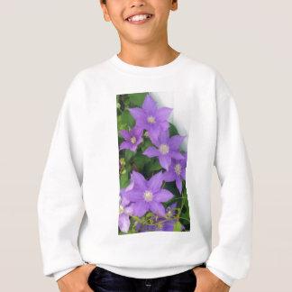 purple flowers sweatshirt