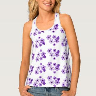 Purple Flowers Tank Top