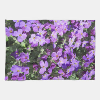 Purple Flowers Towel