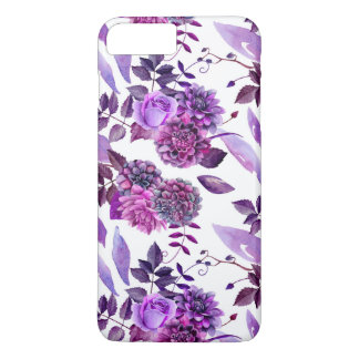 Purple flowers. Watercolor violet floral. For her iPhone 8 Plus/7 Plus Case
