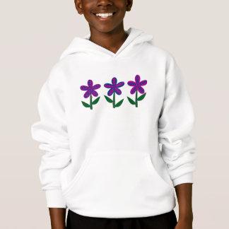 Purple Flowers with Ladybugs