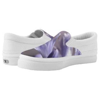 Purple Flowers Z slipons Slip-On Sneakers