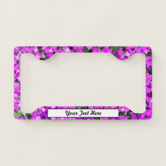 Purple Flowrers and Your Text License Plate Frame