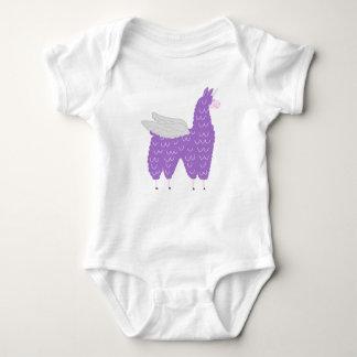 Purple Flying Llamacorn Baby Bodysuit