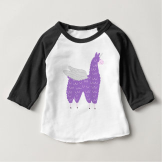 Purple Flying Llamacorn Baby T-Shirt