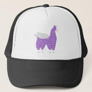 Purple Flying Llamacorn Trucker Hat