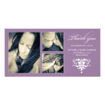 PURPLE FORMAL COLLAGE | WEDDING THANK YOU CARD PICTURE CARD
