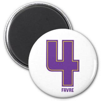 Purple four mag 2 inch round magnet