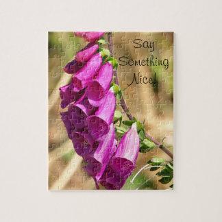Purple Foxglove Flowers Puzzle