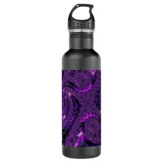 Purple Fractal 710 Ml Water Bottle