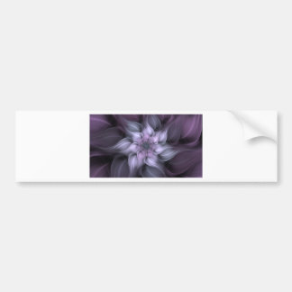 Purple Fractal Bumper Sticker