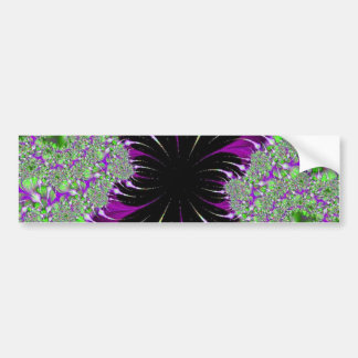 Purple Fractal bumpersticker Bumper Sticker