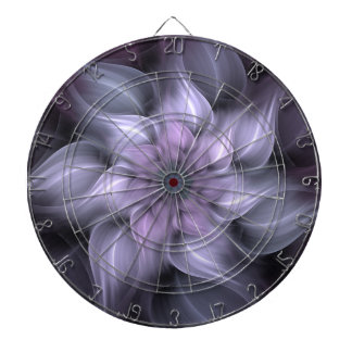 Purple Fractal Dartboard With Darts