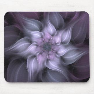 Purple Fractal Flower Mouse Pad