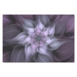 Purple Fractal Flower Tissue Paper