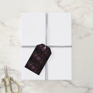 purple fractal gift tags pack of gift tags