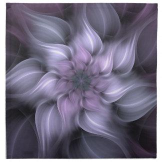 Purple Fractal Napkin