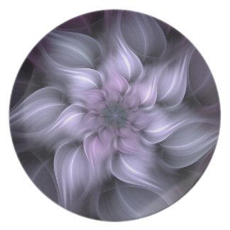 Purple Fractal Plate