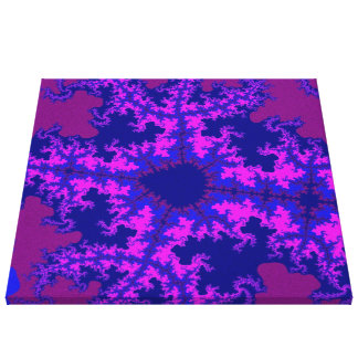 Purple Fractal Splash Canvas Art