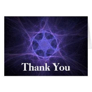 Purple Fractal Star Of David Card