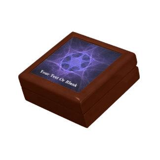 Purple Fractal Star Of David Gift Box